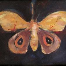 Moth on fire