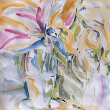 dancing-blooms-2108-watercolour-30-h-x26-w