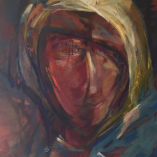 Marie Colvin abstract portrait