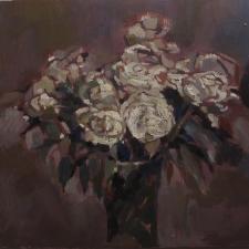 Donna white roses